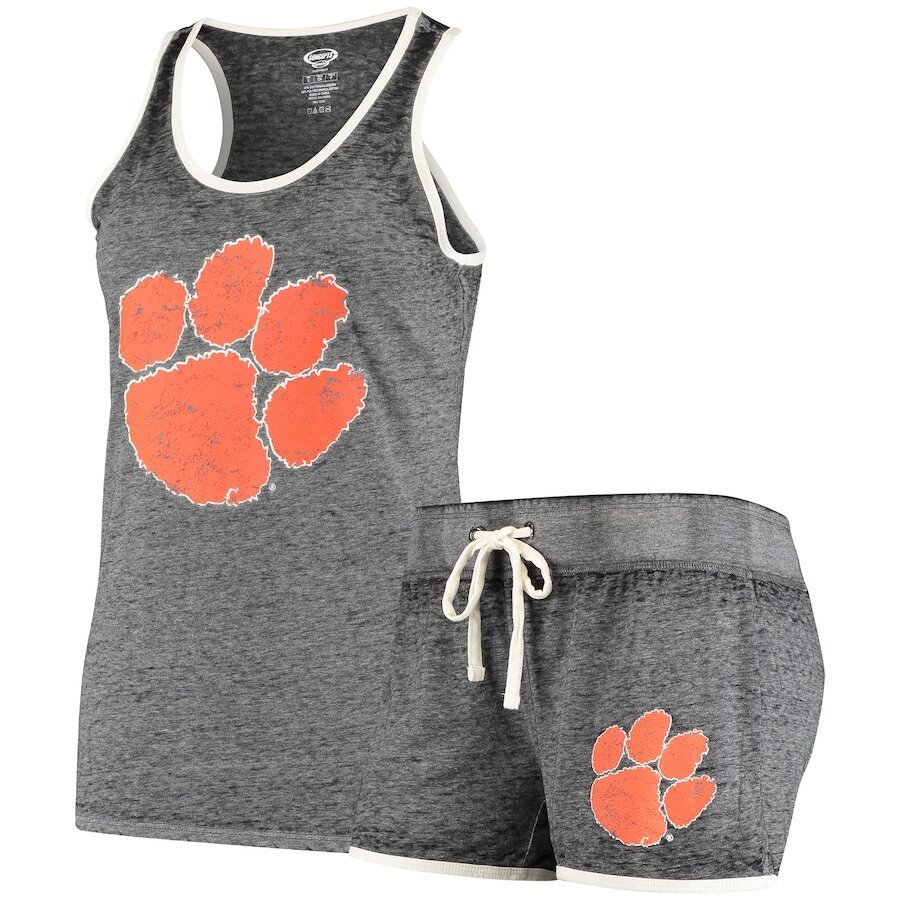 Clemson Tigers Women's Racerback Tank Top & Shorts Sleep Set